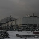 The New Safe Confinement sarcophagus covers destroyed 4th reactor at the Chornobyl NPP on November 29, 2016 in Chornobyl, Ukraine. On April 26, 1986 workers of the power plant inadvertantly caused a meltdown in reactor, causing it to explode and send a toxic cocktail of radioactive fallout into the atmosphere in the world's worst civilian nuclear incident. (Photo by Sergii Kharchenko/NurPhoto via Getty Images)