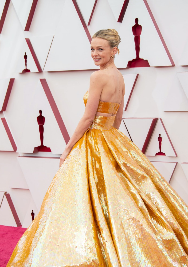 Carey Mulligan's nails for the 2021 Oscars