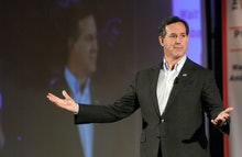 (Nashua, NH 012316 )  Republican presidential candidate former U.S. Senator Rick Santorum speaks dur...