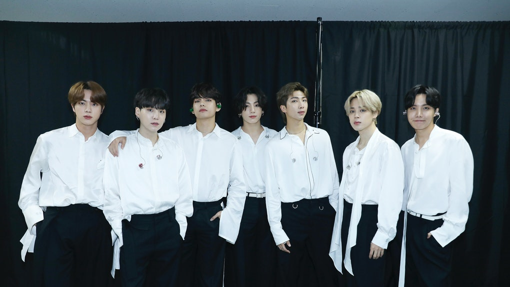 SOUTH KOREA - NOVEMBER 22: (EDITORIAL USE ONLY; NO BOOK COVERS.) In this image released on November 22, Jin, Suga, V, Jungkook, RM, Jimin, and J-Hope of BTS attend the 2020 American Music Awards on November 22, 2020 in South Korea. (Photo by Big Hit Entertainment/AMA2020/Getty Images via Getty Images)