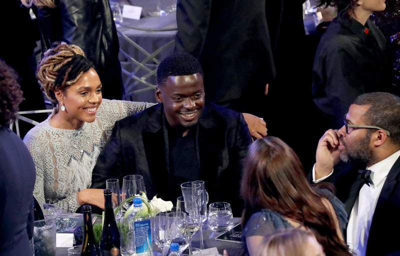 LOS ANGELES, CA - JANUARY 21:  Daniel Kaluuya and Jordan Peele during the 24th Annual Screen Actors Guild Awards at The Shrine Auditorium on January 21, 2018 in Los Angeles, California. 27522_014  (Photo by Mike Coppola/Getty Images for Turner)