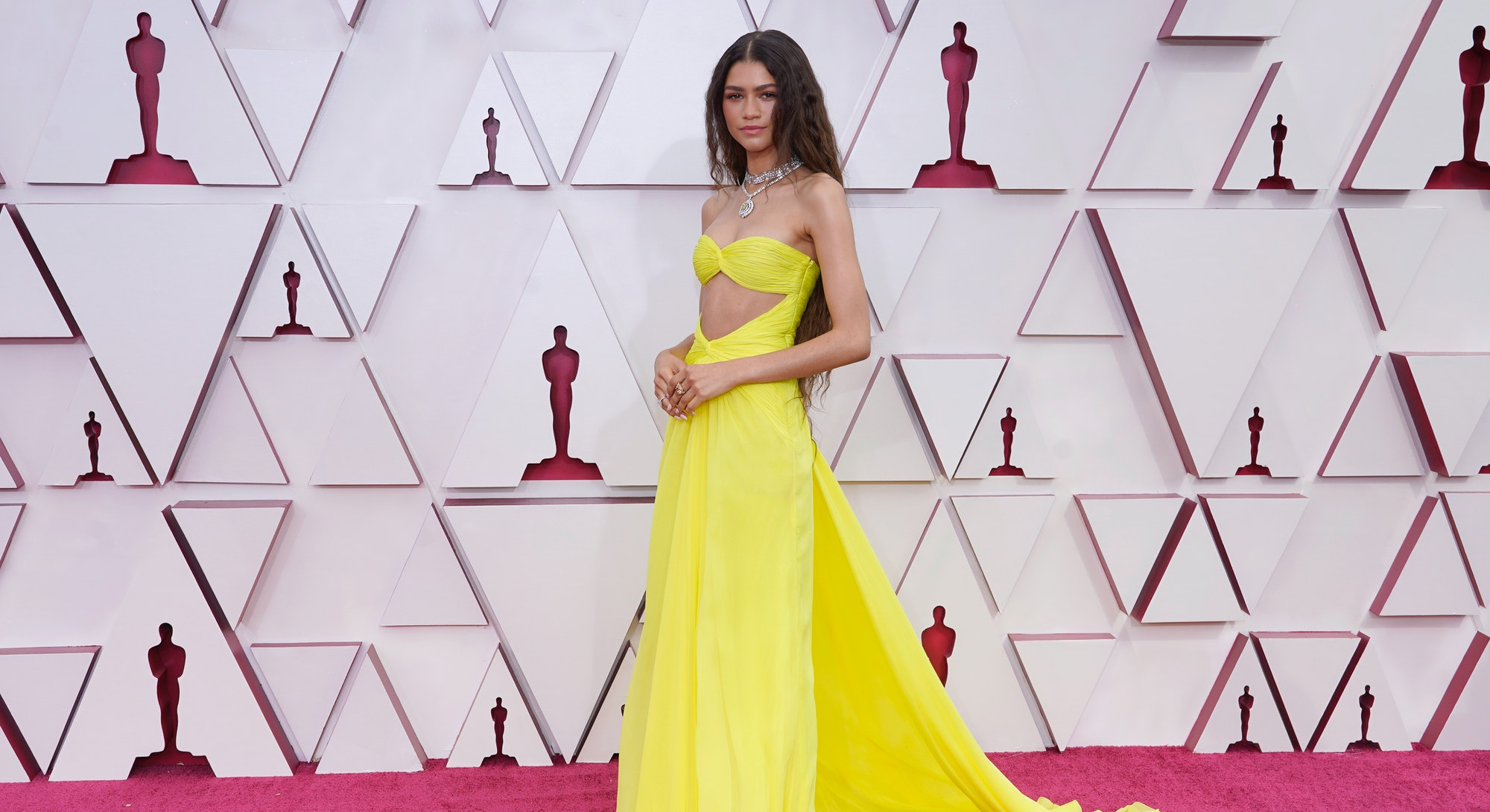 LOS ANGELES, CALIFORNIA – APRIL 25: Zendaya attends the 93rd Annual Academy Awards at Union Station ...