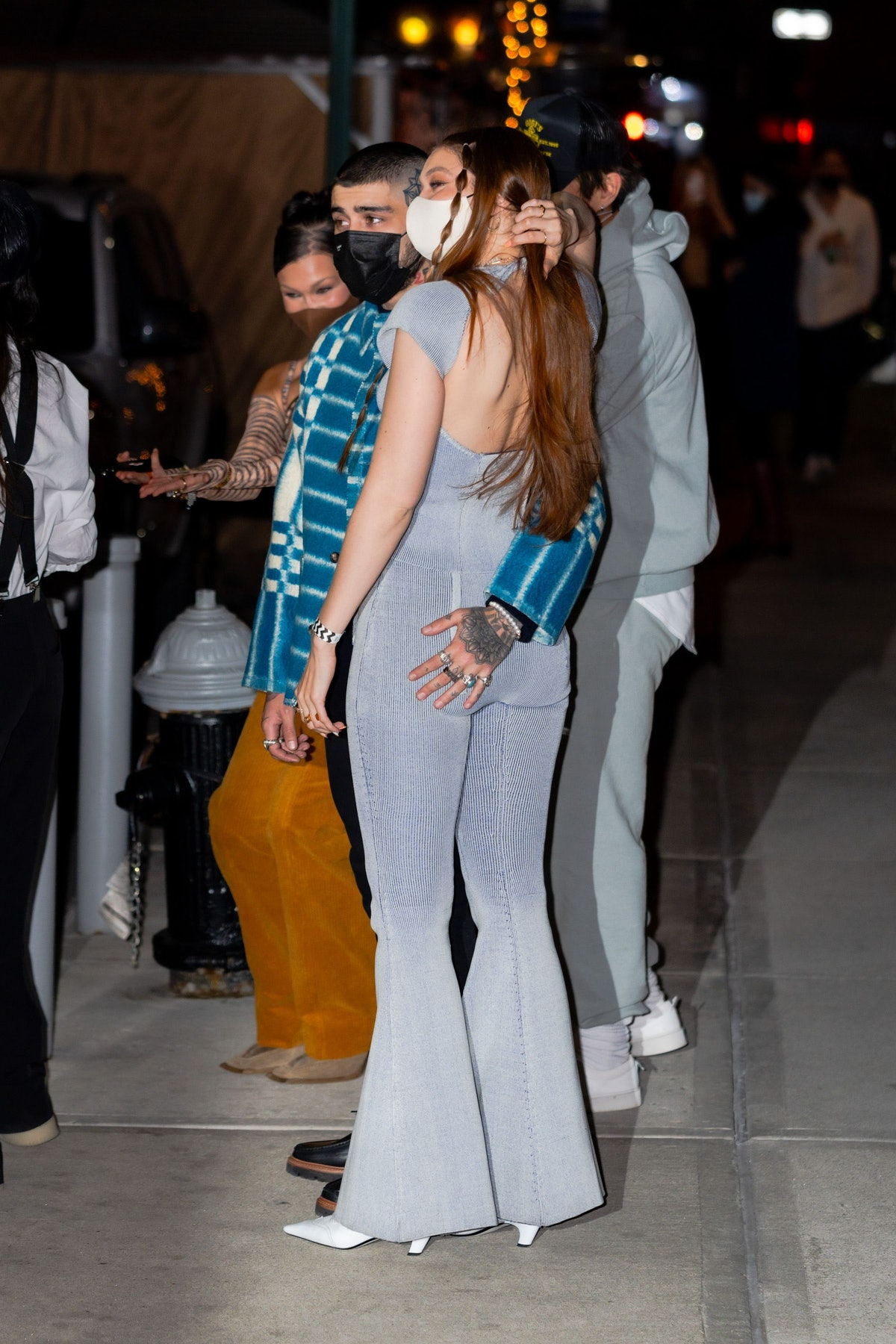 NEW YORK, NEW YORK - APRIL 23: Gigi Hadid and Zayn Malik are seen on her birthday in NoHo on April 23, 2021 in New York City. (Photo by Gotham/GC Images)