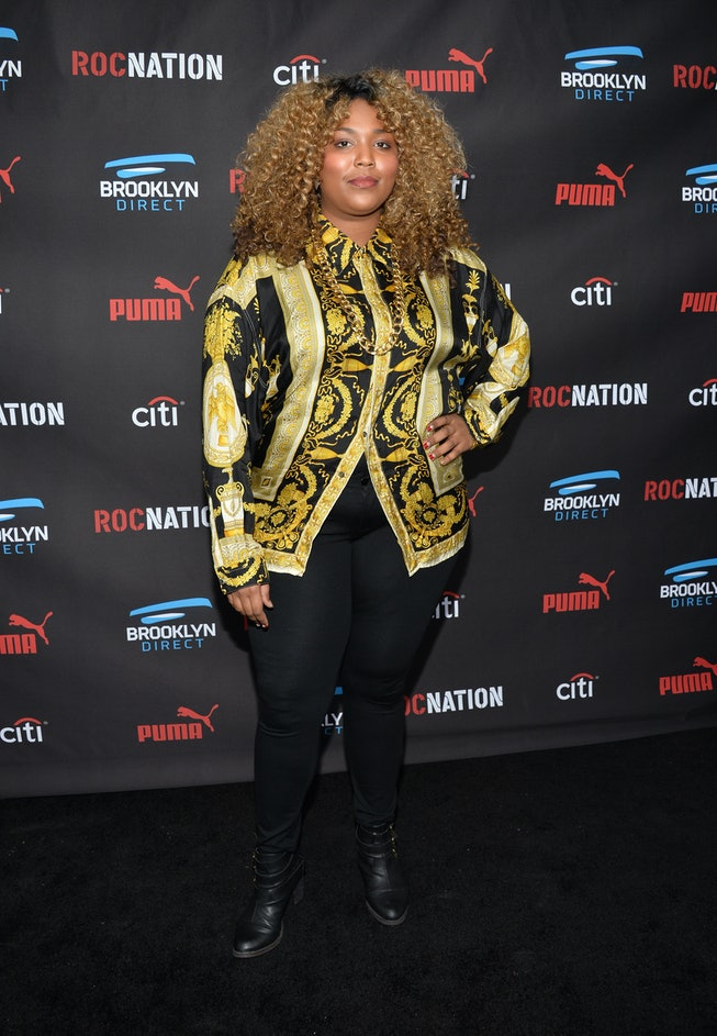 Lizzo at the Roc Nation Grammy Brunch in 2015.