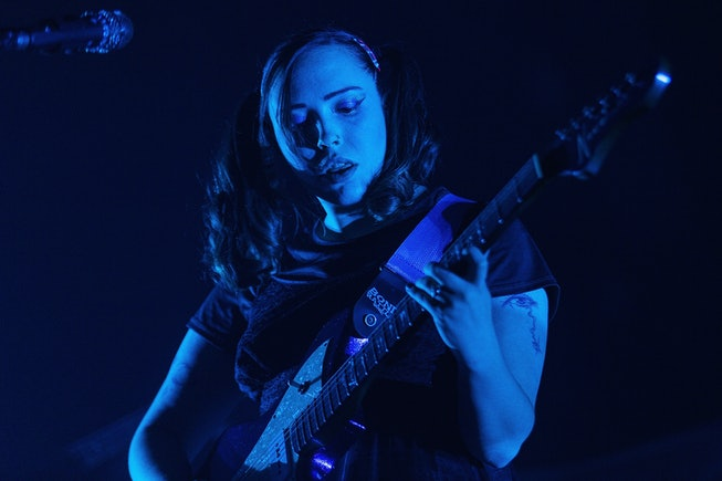 SEATTLE, WA - SEPTEMBER 27:  Sophie Allison of Soccer Mommy performs on stage at WaMu Theater on September 27, 2019 in Seattle, Washington.  (Photo by Mat Hayward/Getty Images)