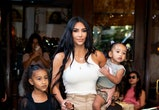 NEW YORK, NEW YORK - SEPTEMBER 29: Kim Kardashian is seen with her children North, Saint and Chicago in SoHo on September 29, 2019 in New York City. (Photo by Gotham/GC Images)