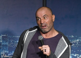 PASADENA, CALIFORNIA - AUGUST 07: Comedian Joe Rogan performs during his appearance at The Ice House Comedy Club on August 07, 2019 in Pasadena, California. (Photo by Michael S. Schwartz/Getty Images)