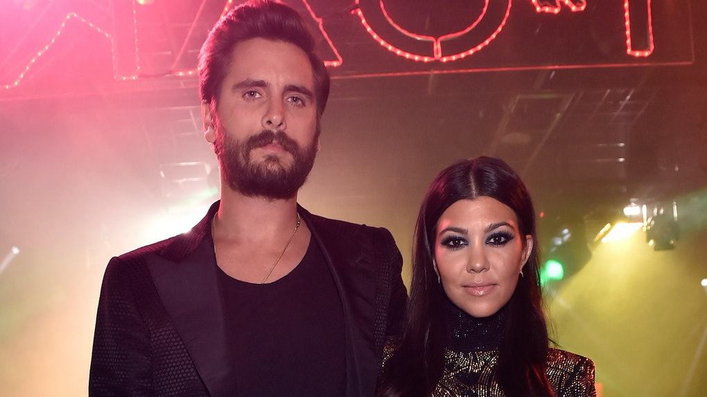 LAS VEGAS, NV - MAY 23:  (EXCLUSIVE COVERAGE) Television personalities Scott Disick (L) and Kourtney Kardashian attend his birthday celebration at 1 OAK Nightclub at The Mirage Hotel & Casino on May 23, 2015 in Las Vegas, Nevada.  (Photo by David Becker/WireImage)