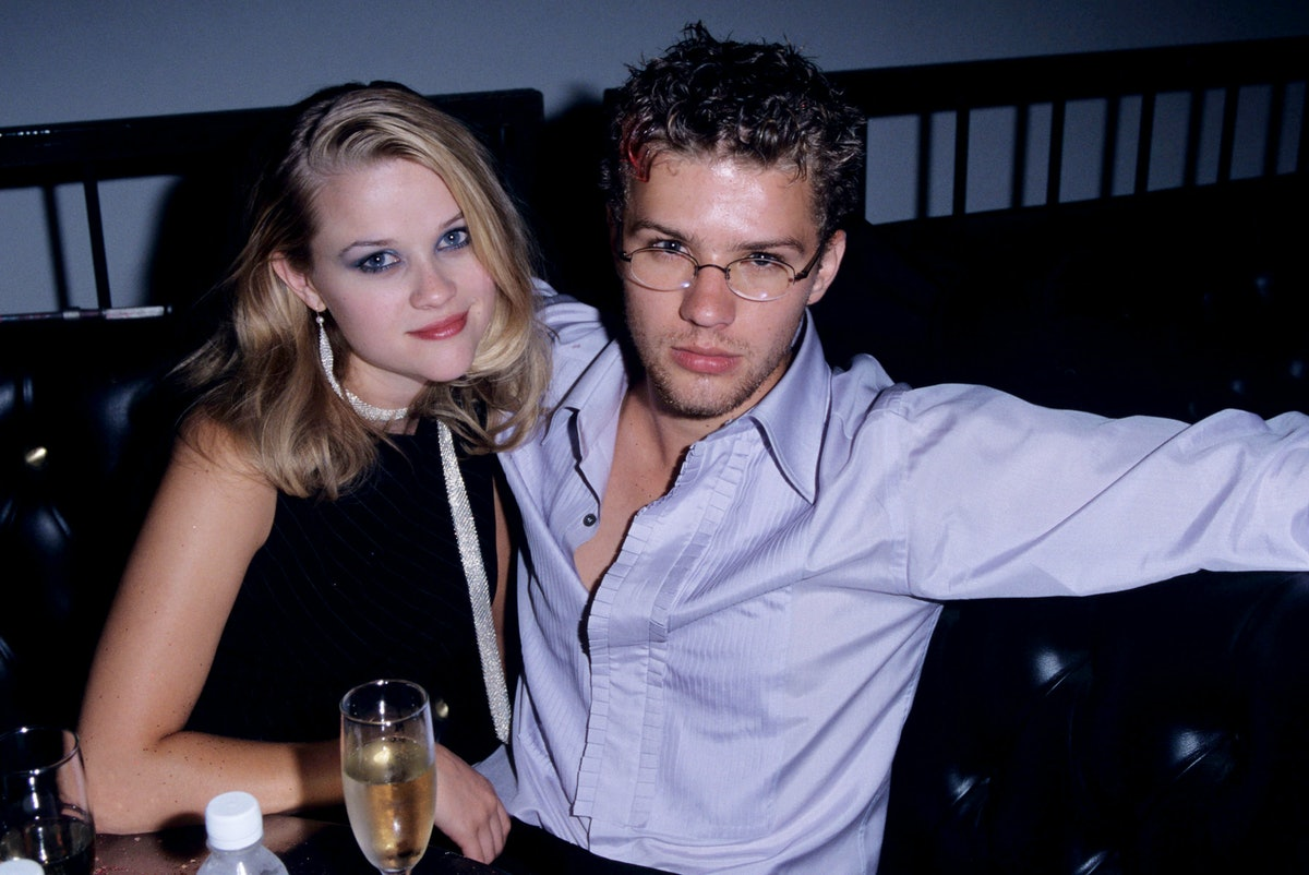 """Reese Witherspoon and Ryan Phillippe during """"""""54"""""""" Premiere - August 24, 1998 at Mann's Chinese Theater in Hollywood, California, United States. (Photo by S. Granitz/WireImage)"""