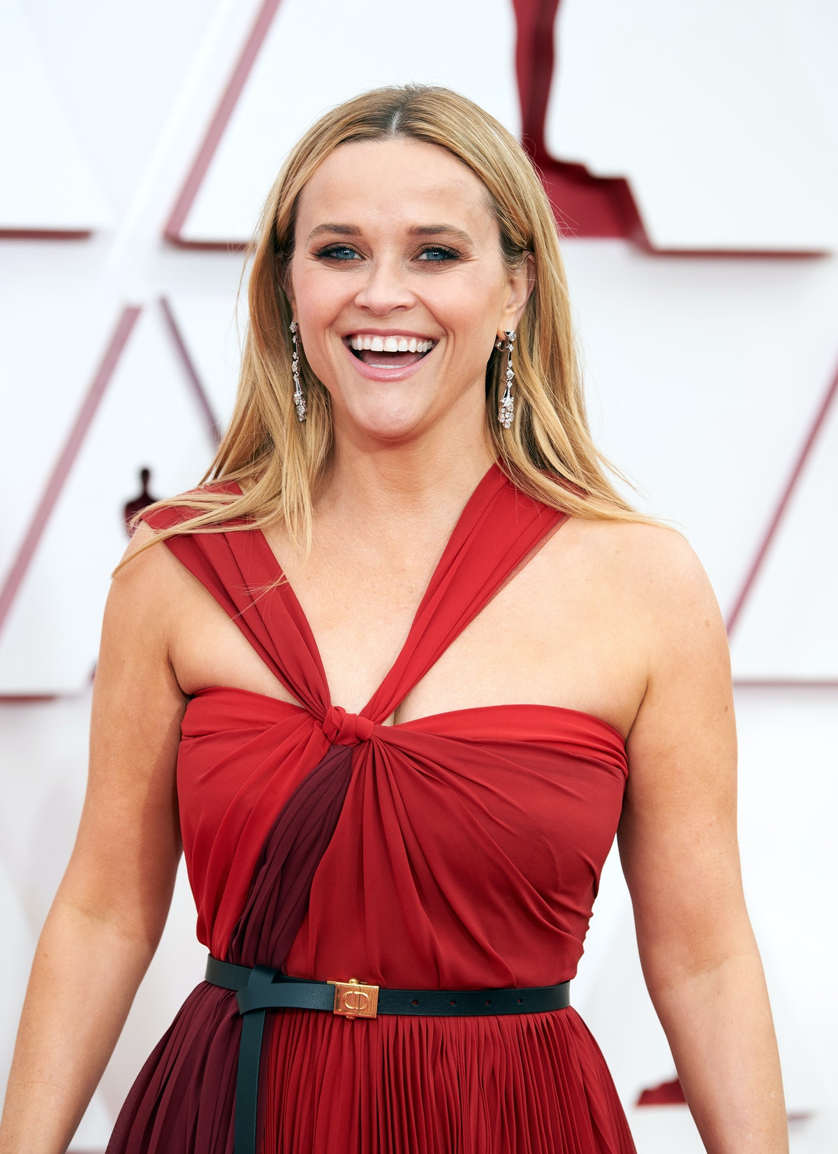 LOS ANGELES, CALIFORNIA – APRIL 25: (EDITORIAL USE ONLY) In this handout photo provided by A.M.P.A.S., Reese Witherspoon attends the 93rd Annual Academy Awards at Union Station on April 25, 2021 in Los Angeles, California. (Photo by Matt Petit/A.M.P.A.S. via Getty Images)