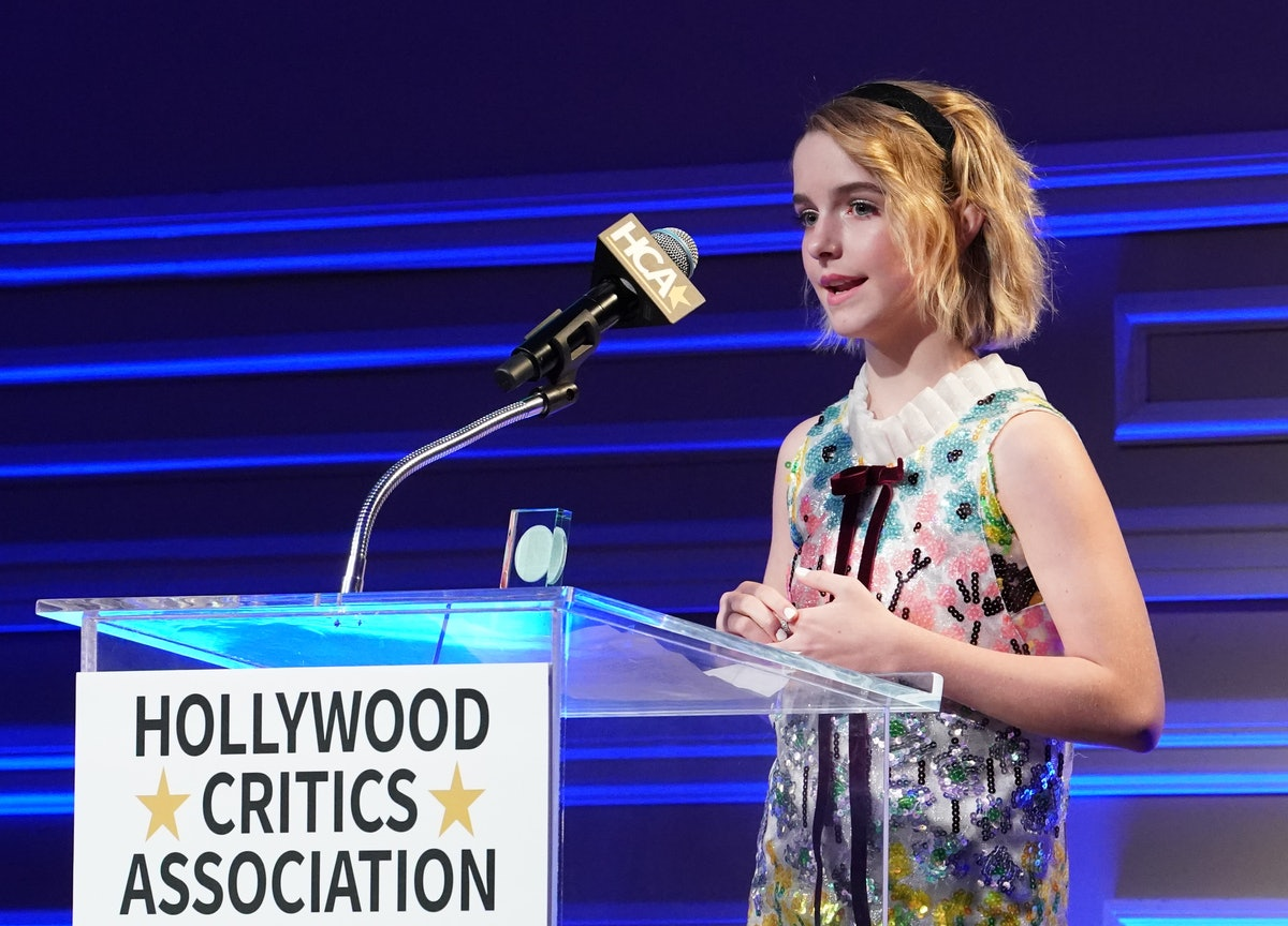 LOS ANGELES, CALIFORNIA - JANUARY 09: McKenna Grace is awarded Next Generation of Hollywood Award during the 3rd Annual Hollywood Critics Awards at Taglyan Complex on January 09, 2020 in Los Angeles, California. (Photo by Rachel Luna/Getty Images)