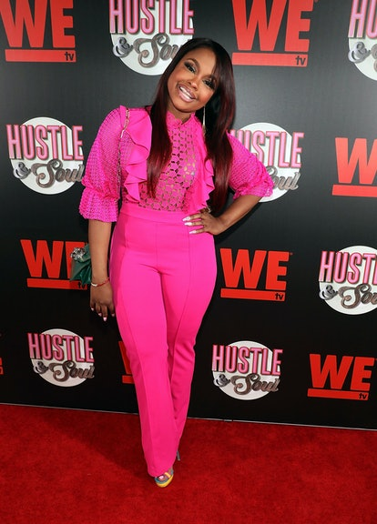 """MIAMI, FL - MARCH 28:  Phaedra Parks attends as WE tv celebrates the premiere of """"Hustle & Soul"""" Sea..."""