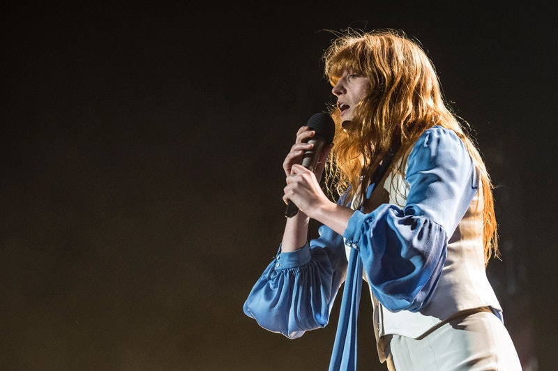 English singer  Florence Welch of the indie rock band Florence and the Machine performs live on stage at Mediolanum Forum. Milan (Italy), December 21st, 2015 (Photo by Elena Di Vincenzo/Archivio Elena di Vincenzo/Mondadori Portfolio via Getty Images)