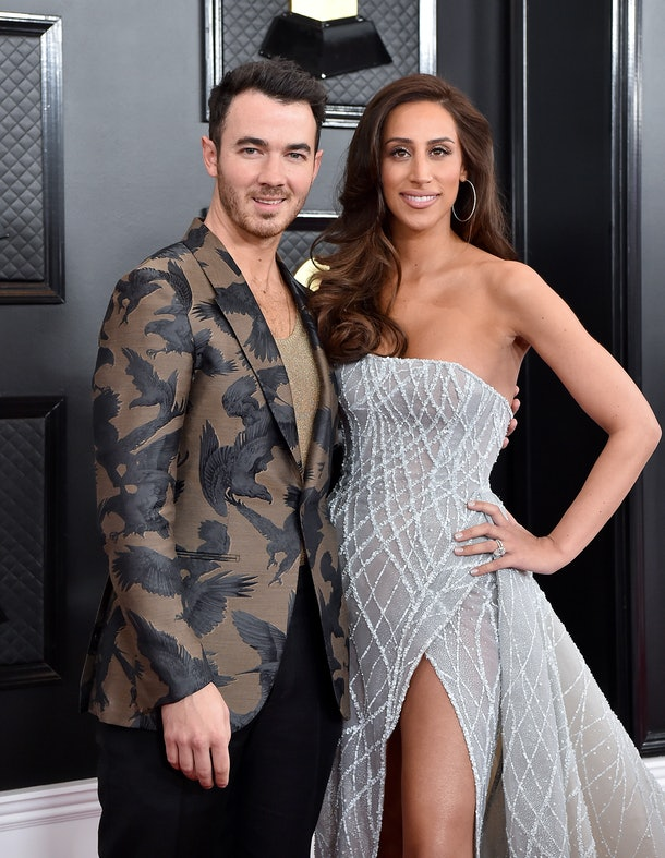 LOS ANGELES, CALIFORNIA - JANUARY 26: Kevin Jonas and Danielle Jonas attend the 62nd Annual GRAMMY Awards at Staples Center on January 26, 2020 in Los Angeles, California. (Photo by Axelle/Bauer-Griffin/FilmMagic)