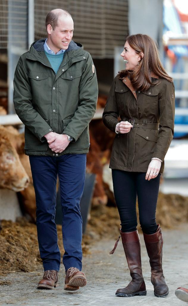 Prince William makes Kate Middleton laugh.