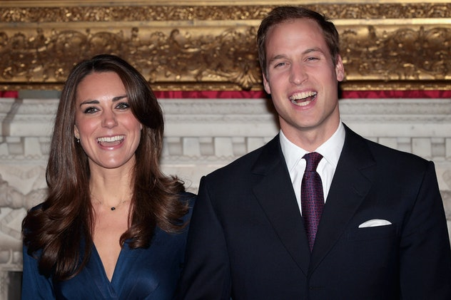 Prince William and Kate Middleton in their engagement photo.