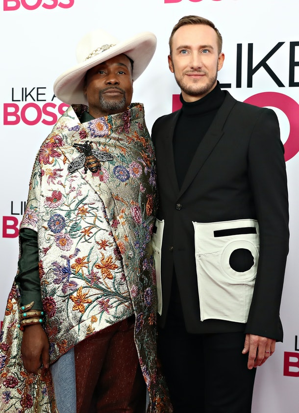 "NEW YORK, NY - JANUARY 07:  Billy Porter and Adam Smith attend the world premiere of ""Like A Boss"" at SVA Theater on January 07, 2020 in New York City.  (Photo by Cindy Ord/FilmMagic)"