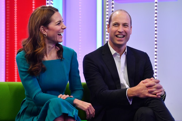 Prince William and Kate Middleton share a laugh.