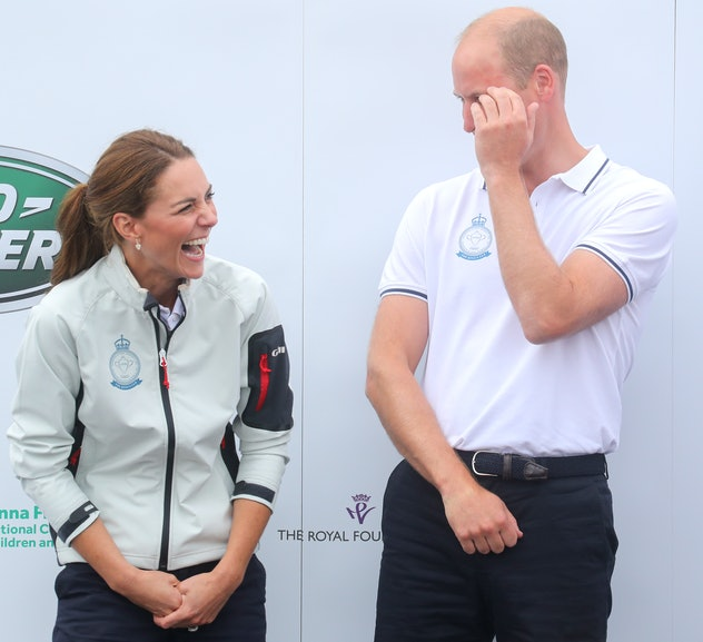 The royal couple love a sailing competition.