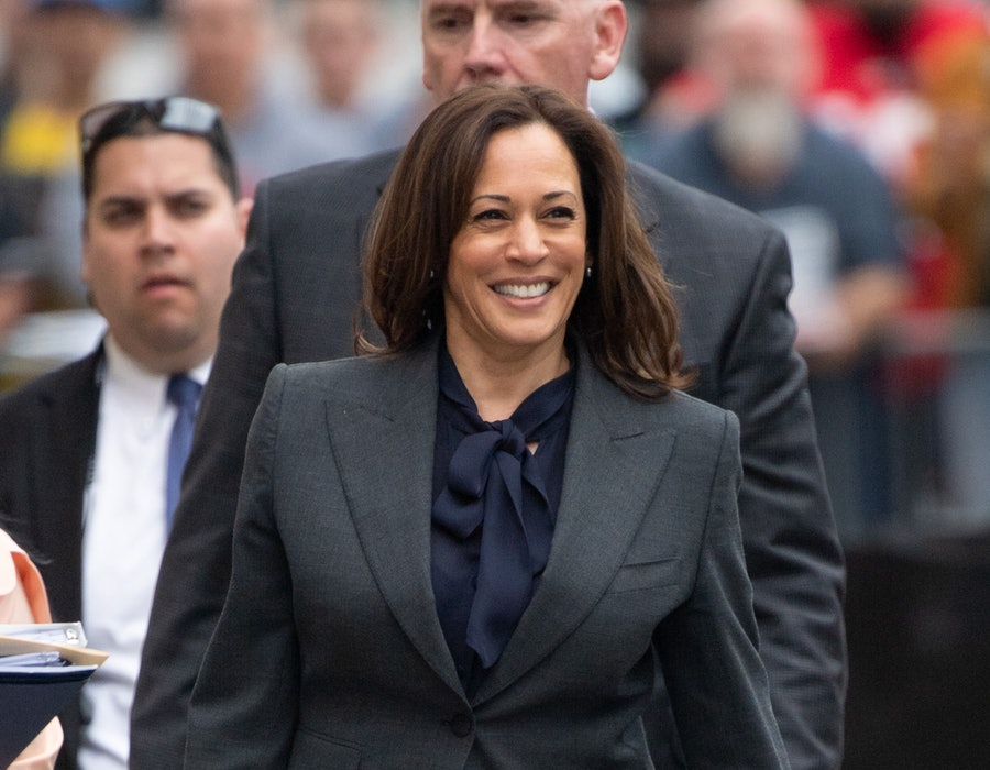 LOS ANGELES, CA - MARCH 19: Senator Kamala Harris is seen at 'Jimmy Kimmel Live' on March 19, 2019 in Los Angeles, California.  (Photo by RB/Bauer-Griffin/GC Images)