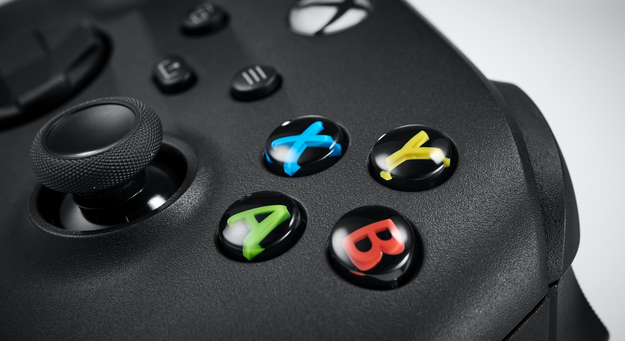 Detail of the buttons on a Microsoft Xbox Series X wireless controller, taken on October 9, 2020. (P...