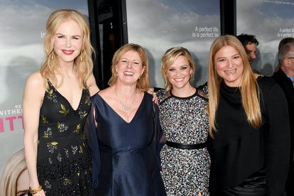 LOS ANGELES, CA - FEBRUARY 07:  (L-R) Actor/producer Nicole Kidman, author Liane Moriarty, actor/producer Reese Witherspoon and producer Bruna Papandrea attend the after party of HBO's 'Big Little Lies' at the Hollywood Roosevelt Hotel on February 7, 2017 in Hollywood, California.  (Photo by Jeff Kravitz/FilmMagic)
