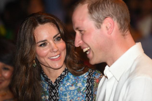 Kate Middleton makes Prince William laugh.