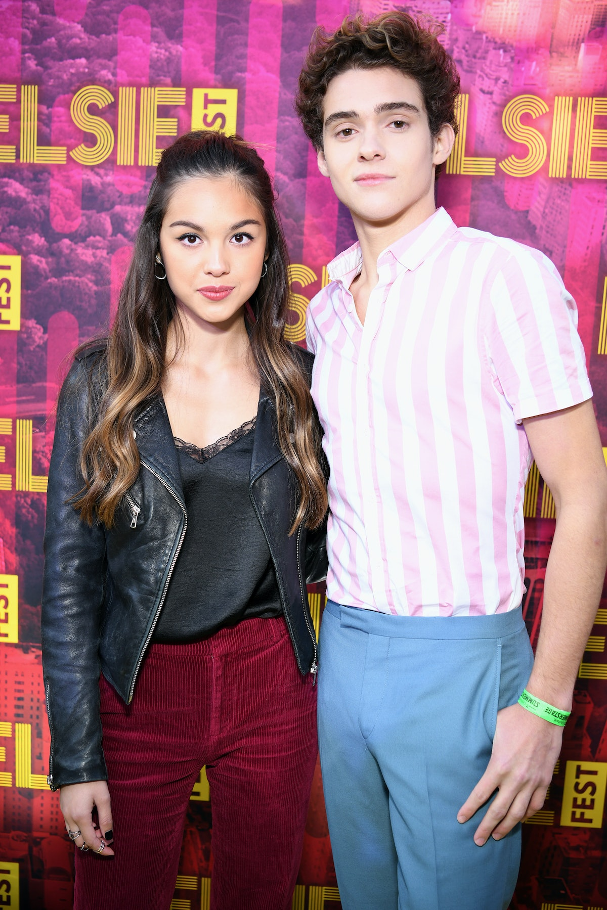 NEW YORK, NEW YORK - OCTOBER 05: Joshua Bassett and Olivia Rodrigo attend the 5th Annual Elsie Fest: Broadway's Outdoor Music Festival on October 05, 2019 in New York City. (Photo by Jenny Anderson/Getty Images for Elsie Fest )