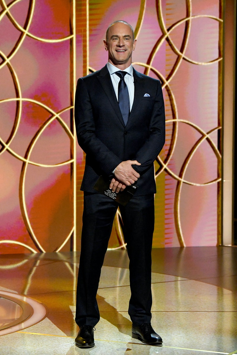 NEW YORK, NEW YORK - FEBRUARY 28: Christopher Meloni presents the award for Best Supporting Actress – Television onstage during the 78th Annual Golden Globe® Awards at The Rainbow Room on February 28, 2021 in New York City. (Photo by Kevin Mazur/Getty Images for Hollywood Foreign Press Association)