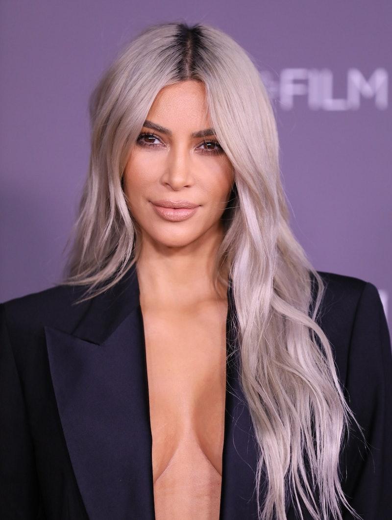 Kim Kardashian recently debuted bleached eyebrows on Instagram.