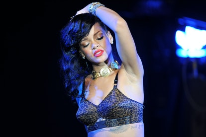 LONDON, ENGLAND - NOVEMBER 19: Rihanna performs for the London leg of her 777 tour at Kentish Town F...