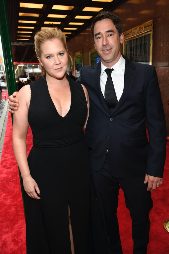 NEW YORK, NY - JUNE 10:  Amy Schumer and Chris Fischer attend the 72nd Annual Tony Awards at Radio City Music Hall on June 10, 2018 in New York City.  (Photo by Kevin Mazur/Getty Images for Tony Awards Productions   )