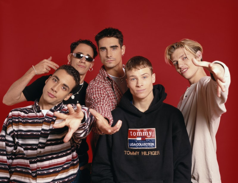 American boyband The Backstreet Boys, circa 1995. They are Brian Littrell, Nick Carter, A. J. McLean, Howie Dorough and Kevin Richardson  (Photo by Tim Roney/Getty Images)