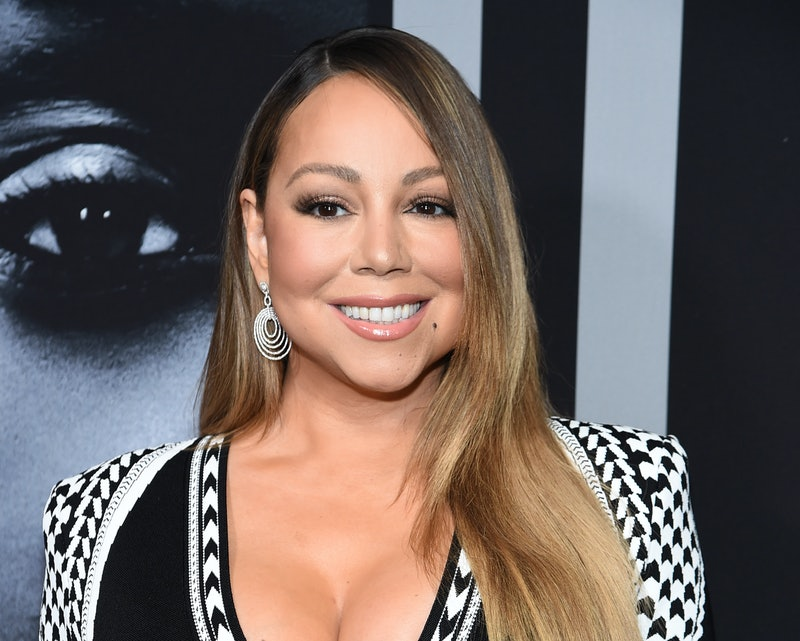 """NEW YORK, NEW YORK - JANUARY 13: Mariah Carey attends the premiere of Tyler Perry's """"A Fall From Grace"""" at Metrograph on January 13, 2020 in New York City. (Photo by Jamie McCarthy/Getty Images)"""