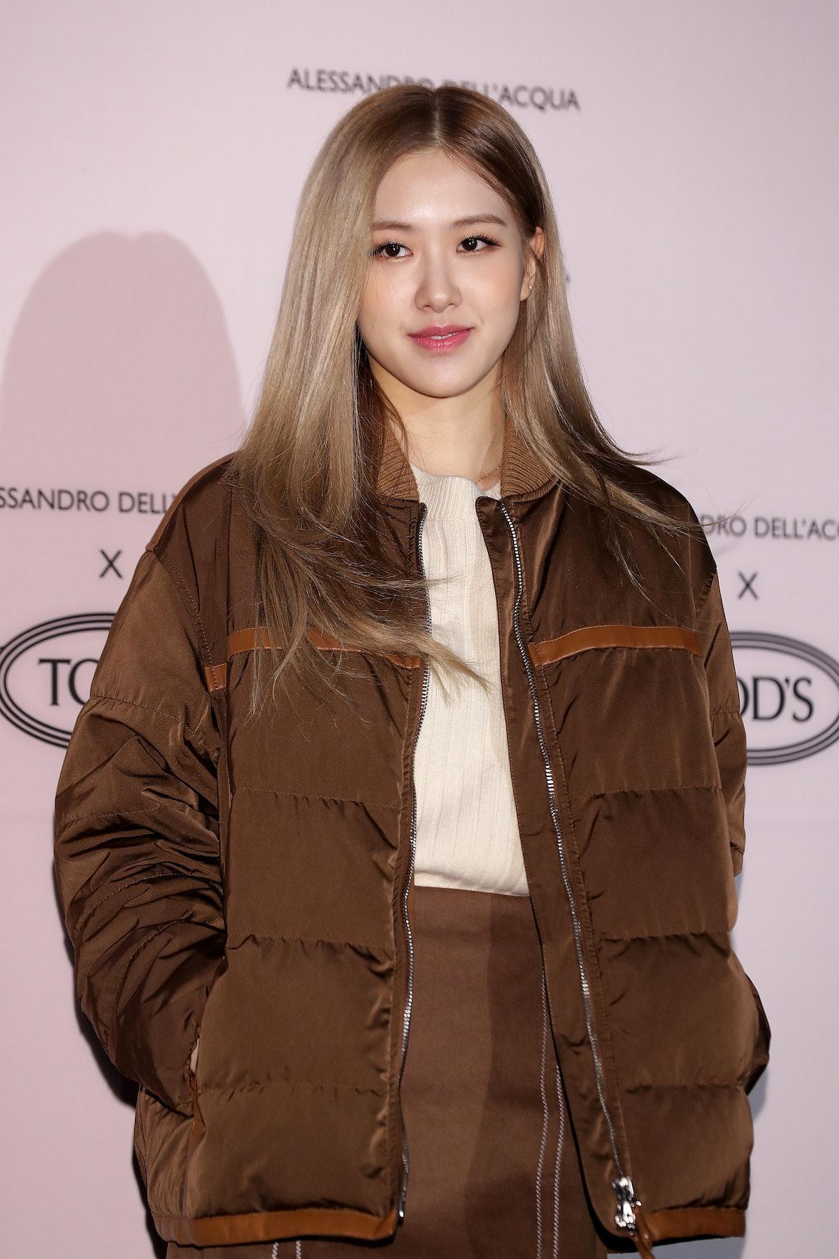 SEOUL, SOUTH KOREA - NOVEMBER 27: Rose of South Korean girl group BLACKPINK attends the photocall fo...