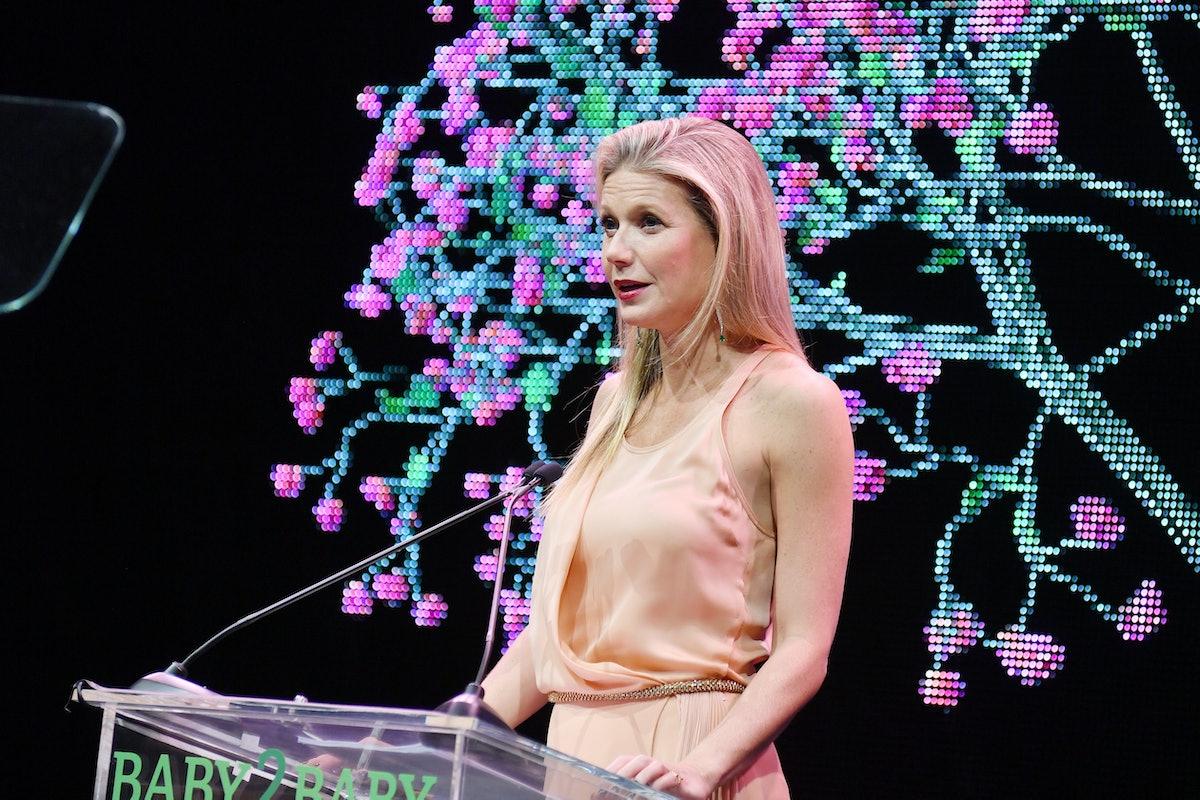 LOS ANGELES, CALIFORNIA - NOVEMBER 09: Gwyneth Paltrow speaks onstage at the 2019 Baby2Baby Gala pre...