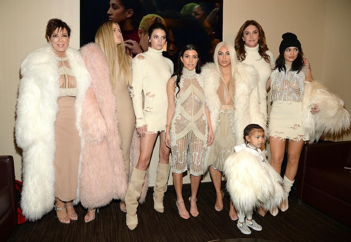 NEW YORK, NY - FEBRUARY 11:  Khloe Kardashian, Kris Jenner, Kendall Jenner, Kourtney Kardashian, Kim...