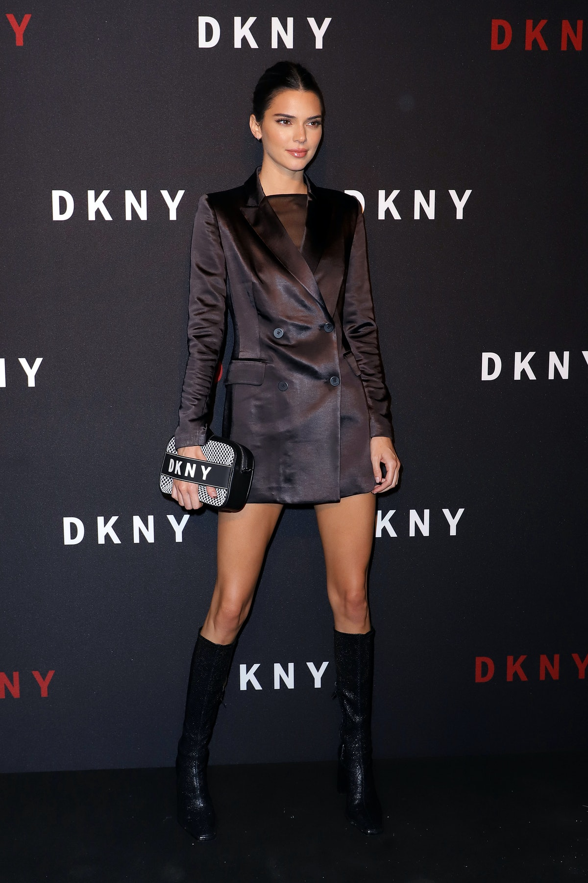 NEW YORK, NEW YORK - SEPTEMBER 09: Kendall Jenner  attends as DKNY turns 30 with special live perfor...