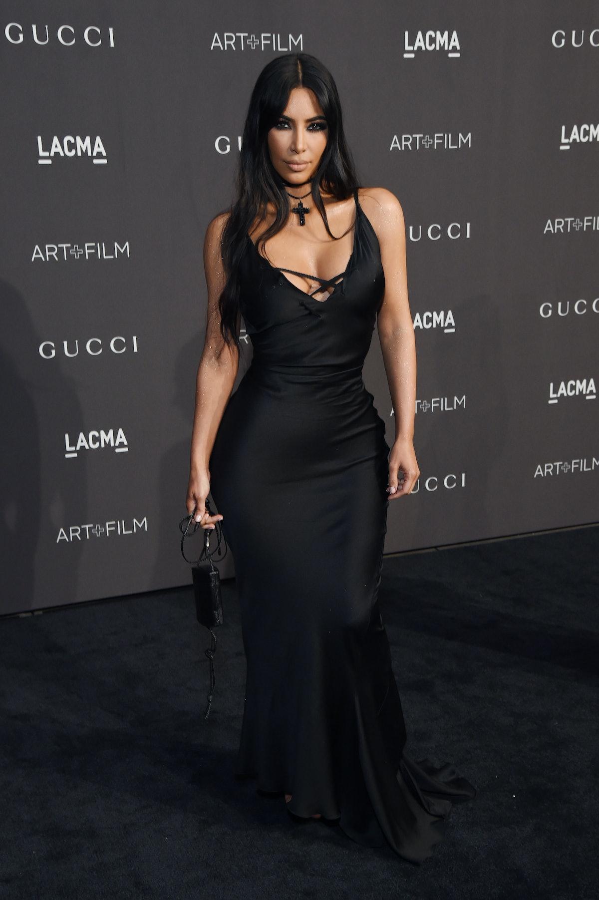 LOS ANGELES, CA - NOVEMBER 03:  Kim Kardashian West attends 2018 LACMA Art + Film Gala honoring Cath...