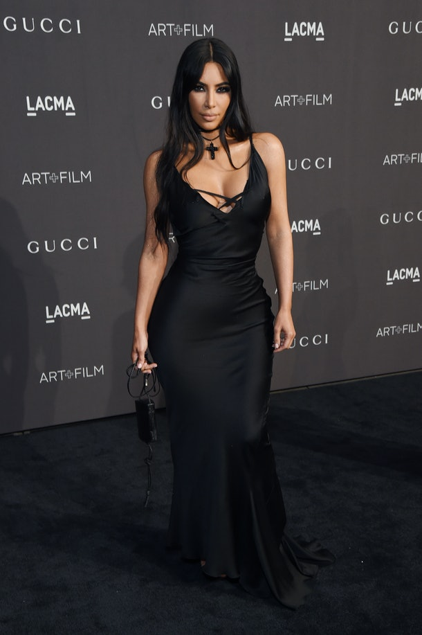 LOS ANGELES, CA - NOVEMBER 03:  Kim Kardashian West attends 2018 LACMA Art + Film Gala honoring Catherine Opie and Guillermo del Toro presented by Gucci at LACMA on November 3, 2018 in Los Angeles, California.  (Photo by Michael Kovac/Getty Images for LACMA)