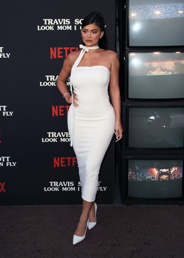 """SANTA MONICA, CALIFORNIA - AUGUST 27: Kylie Jenner attends the premiere of Netflix's """"Travis Scott: Look Mom I Can Fly"""" at Barker Hangar on August 27, 2019 in Santa Monica, California. (Photo by David Livingston/WireImage)"""