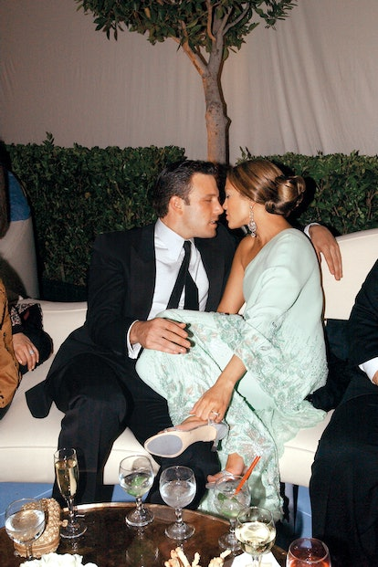 Ben Affleck, Jennifer Lopez 'Vanity Fair' Oscars Party Morton's , Beverly Hills, CA March 23, 2003. (Photo by Patrick McMullan/Getty Images)