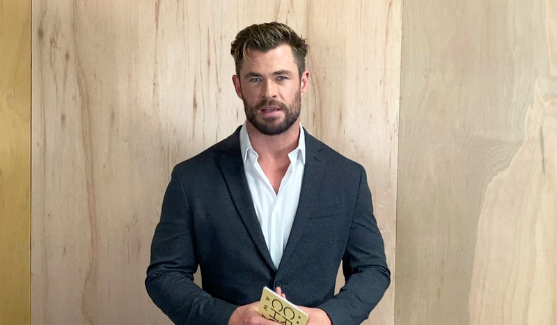 UNSPECIFIED LOCATION – MARCH 7: In this screengrab, Chris Hemsworth speaks at the 26th Annual Critics Choice Awards on March 07, 2021. (Photo by Getty Images/Getty Images for the Critics Choice Association)