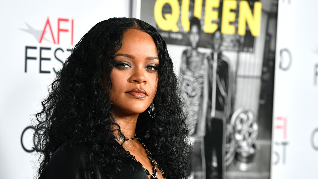 """HOLLYWOOD, CALIFORNIA - NOVEMBER 14: Rihanna attends AFI FEST 2019 Presented By Audi – """"Queen & Slim"""" Premiere at TCL Chinese Theatre on November 14, 2019 in Hollywood, California. (Photo by Frazer Harrison/Getty Images)"""