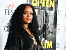 """HOLLYWOOD, CALIFORNIA - NOVEMBER 14: Rihanna attends AFI FEST 2019 Presented By Audi – """"Queen & Slim..."""