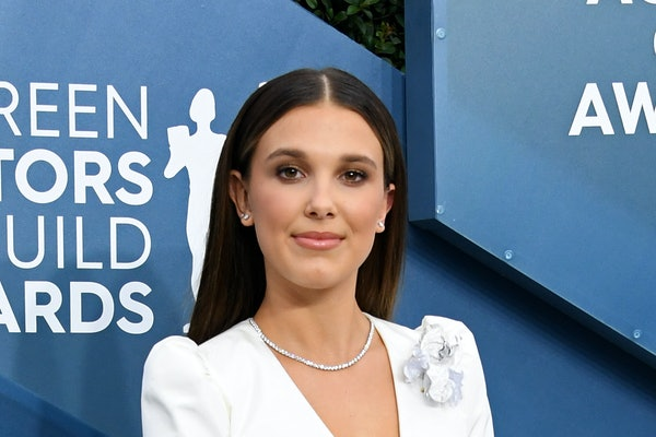 LOS ANGELES, CALIFORNIA - JANUARY 19: Millie Bobby Brown attends the 26th Annual Screen ActorsGuild Awards at The Shrine Auditorium on January 19, 2020 in Los Angeles, California. (Photo by Jon Kopaloff/Getty Images)