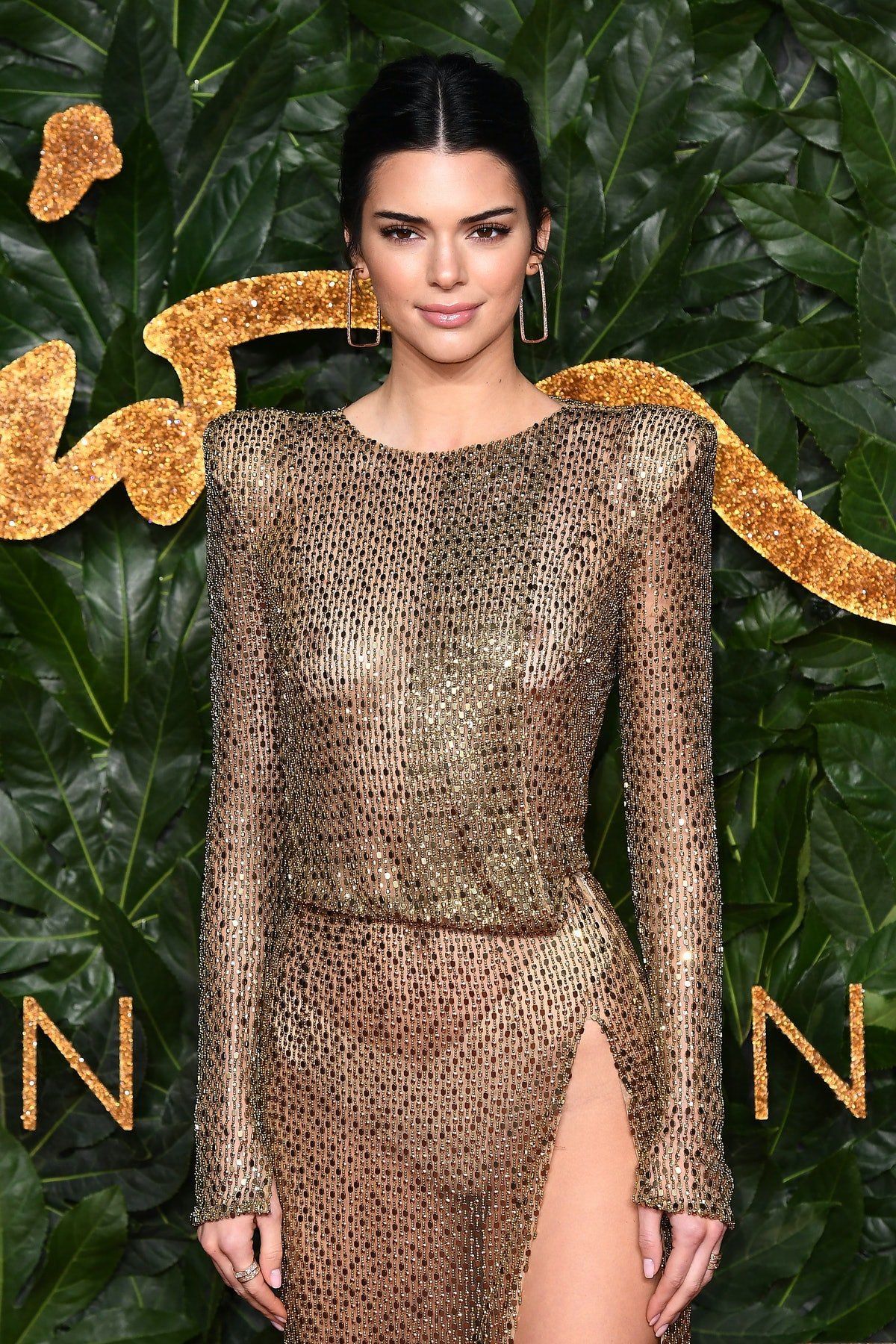 LONDON, ENGLAND - DECEMBER 10:  Kendall Jenner arrives at The Fashion Awards 2018 In Partnership Wit...