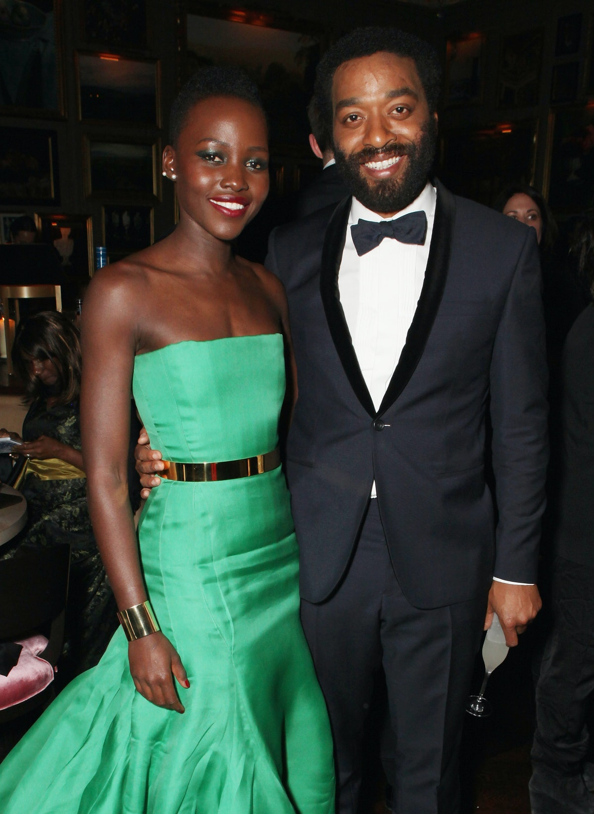 LONDON, ENGLAND - FEBRUARY 16:  Lupita Nyong'o and Chiwetel Ejiofor attend Entertainment One's BAFTA...