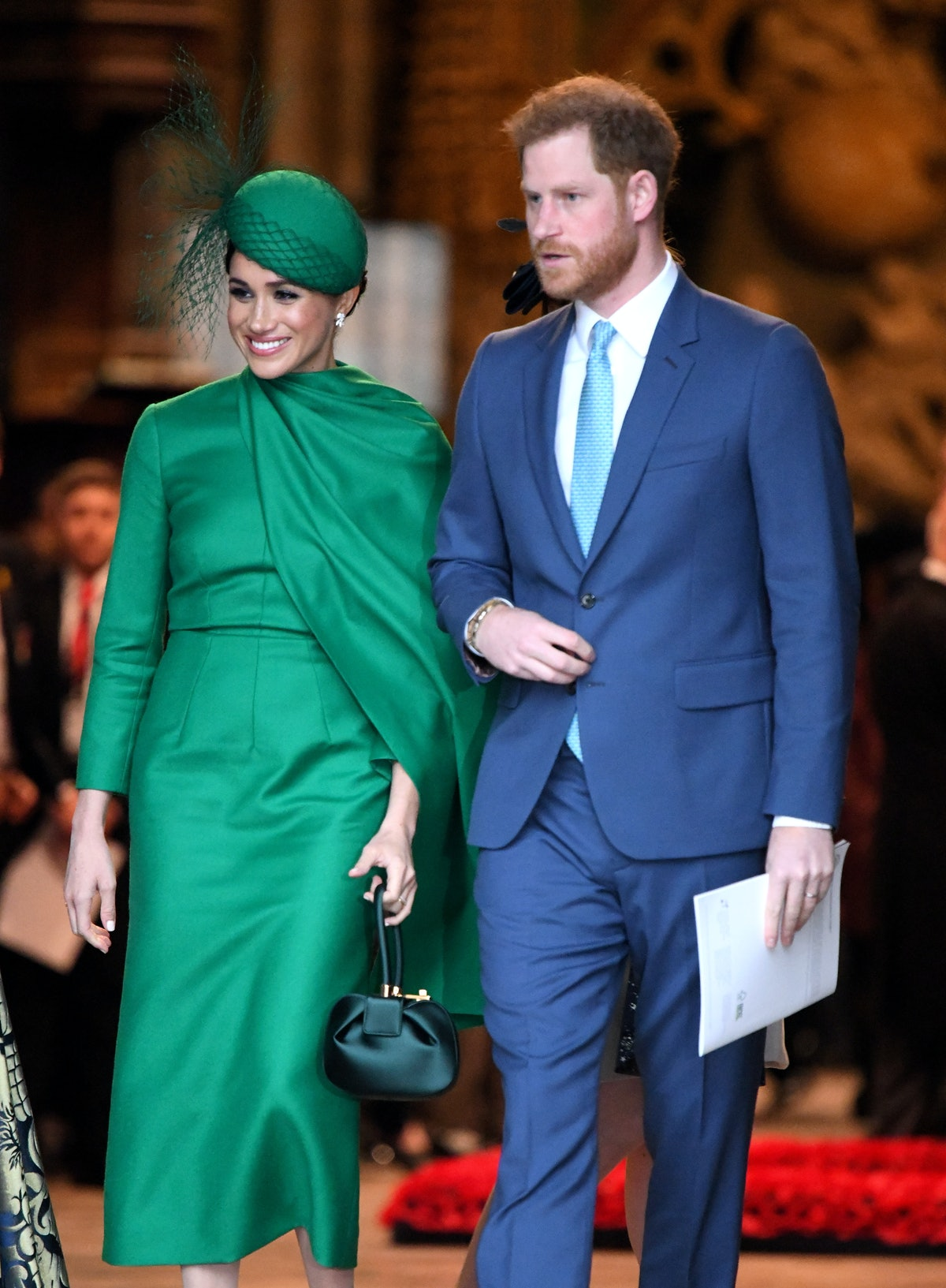 LONDON, ENGLAND - MARCH 09: Prince Harry, Duke of Sussex and Meghan, Duchess of Sussex depart after ...