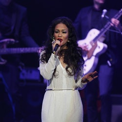 X Factor runner up Rebecca Ferguson performs at the Bridgewater Hall, Manchester on the first night of her UK tour.   (Photo by Dave Thompson/PA Images via Getty Images)